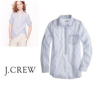 J Crew Camp Striped Popover